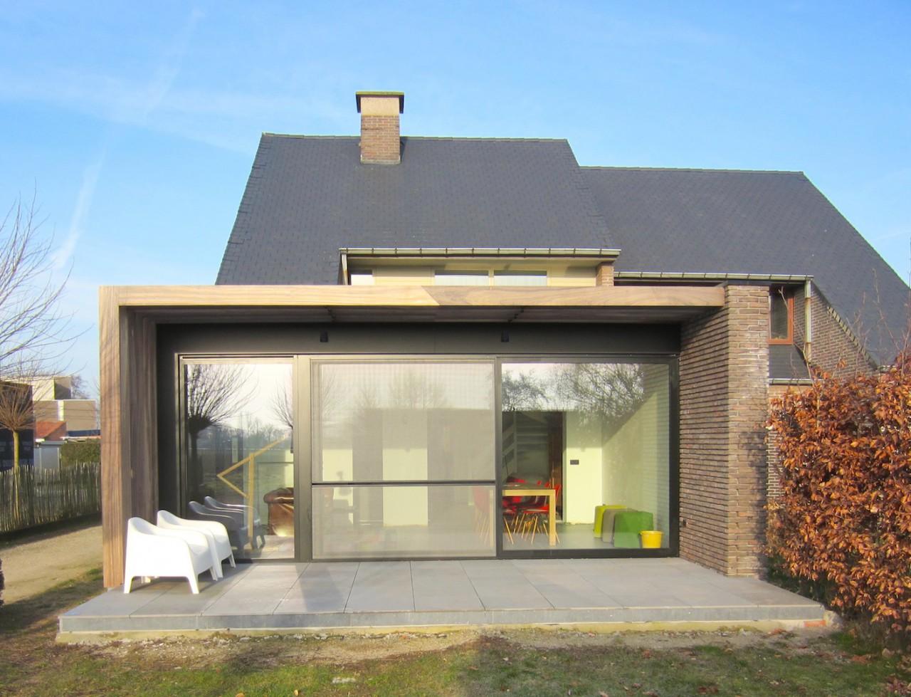 Uitbreiding huis bart vanwassenhove architecten - Uitbreiding huis glas ...