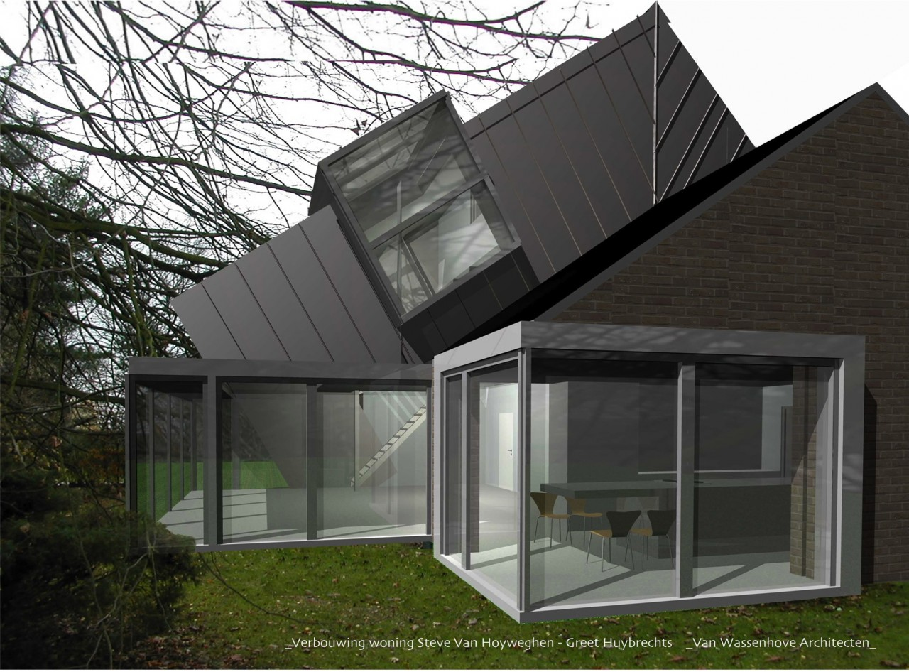 Woning v lochristi vanwassenhove architecten - De naad bouwen ...